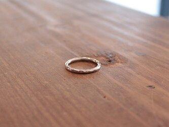 桃色銀細丸棒指輪 rr-76の画像