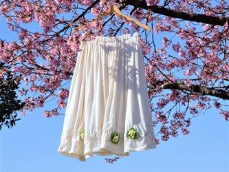 野に咲く春のギャザースカート【送料無料】の画像