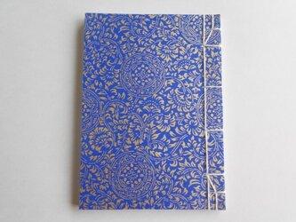 白銀本・康煕綴じ(大) 青に金の蓮華唐草〈京友禅〉の画像