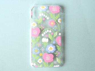 iPhonePlusハードケース【春待ちパステルフラワー】の画像