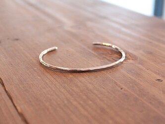 桃色銀細丸棒腕輪小 rb-38の画像