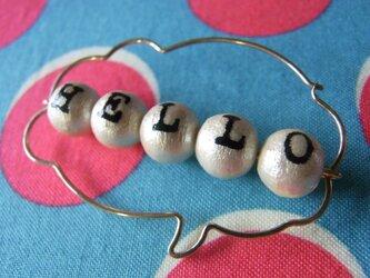 PBP-095 14kgf wire pierced earring(HELLO)の画像