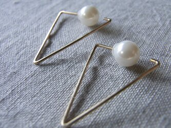 PBP-101 14kgf wire pierced earrings(triangle)の画像