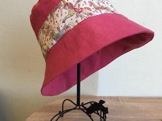 リネン×リバティMy Little Pace 帽子 60の画像