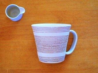 線模様 ハンドルつきカップの画像