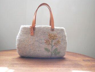 羊毛フェルトバッグ/ミモザの画像