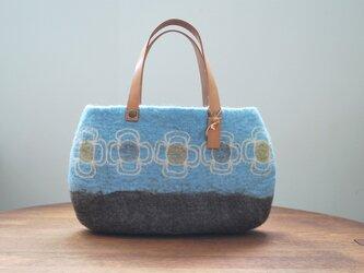 羊毛フェルトバッグ/花つなぎの画像