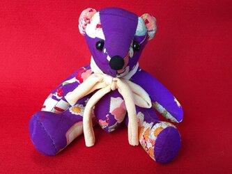 くまさん 紫の画像