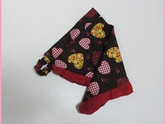 ハート柄の三角巾−子供用の画像