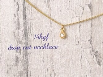 14KGF simple dropcut necklaceの画像