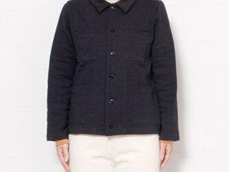 【再入荷】O-0002 吊り天竺シャツジャケット チャコール  サイズ1の画像