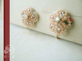 耳飾り【小さな花レース~ピンク】の画像