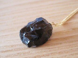 スモーキークォーツの原石ネックレス/煙水晶  14kgfの画像