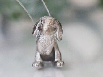 うさぎピアス ロップイヤー 片耳 / マットシルバーの画像