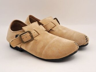 #Tokuyama Shoes:『plie NM-shoes』beige suede leatherの画像