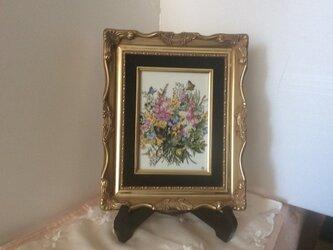 花のブーケの陶板額絵の画像