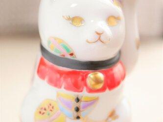 *受注制作*金彩鞠柄招き猫の画像