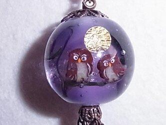フクロウのネックレスの画像