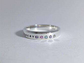 シルバーアクセサリー リング(ユニセックス) 紫陽花 ファイブ-エレメントの画像