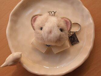 ふんわりブローチ*2毛猫シルバーの画像