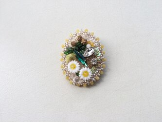 no.7. Flower garden ブローチの画像