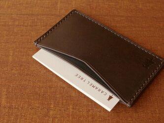 【受注生産】Business Card Case(slim-type)/olive×bluegreenの画像