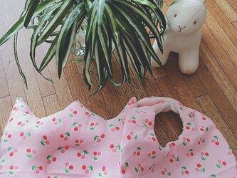 ベビーまくらセット★さくらんぼピンクの画像
