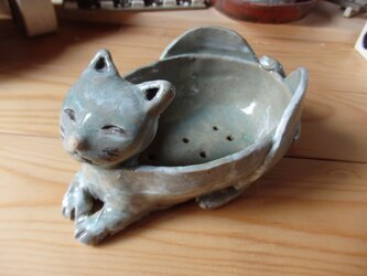 猫プランターの画像