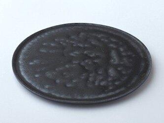 唐津鉄釉平皿の画像