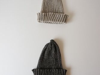 Linen knit cap KID'Sの画像