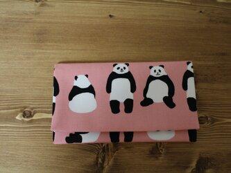 懐紙、通帳いれ Panda pinkの画像