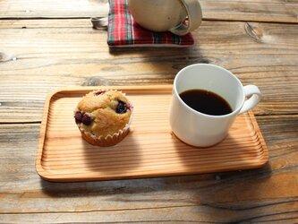 杉のカフェトレイの画像