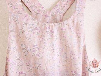 リバティ やさしい桜色のワンピース(S~M)の画像