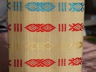 ベトナム織り布文庫本サイズのカバーの画像