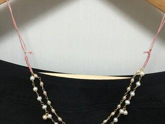 淡水パールのスライド調節ネックレスの画像