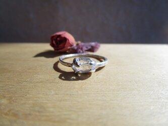 silver ハーキマーダイヤモンド リングの画像