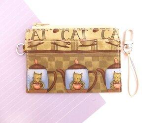パス&スマートキーケース(猫 JAVAcat)の画像