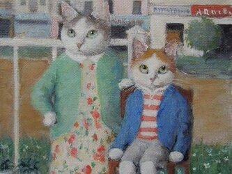 花模様のワンピースと弟(ご検討中)の画像