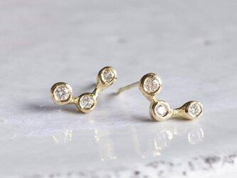 Stardust 3 stones earrings [EP067K10]の画像