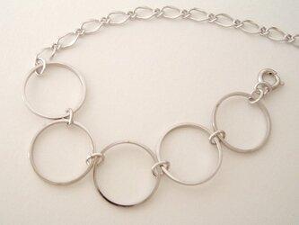 【再】五つの輪&チェーン ブレスレットの画像
