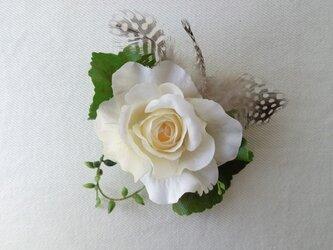 ローズコサージュ (アンティーククリーム)の画像