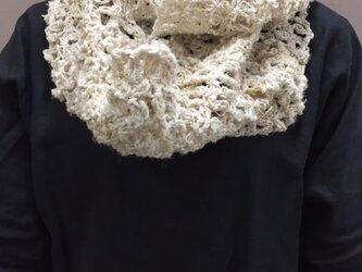 きびそ(生皮苧)手編みスヌード(素材糸 純国産 群馬県産)B級ランク3000デニールの画像