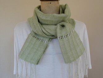 手織り 麻糸ストールの画像