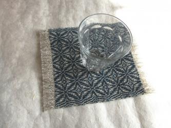 *m様ご予約品*藍模様手織りの花瓶敷の画像