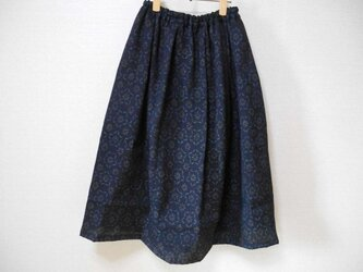 再販★結城ちぢみの可愛いリメイクスカートの画像
