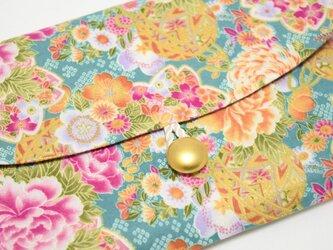 18×12サイズ御朱印帳入れ_金彩桜牡丹の画像