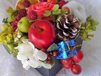 石鹸彫刻 香る花クリスマスアレンジの画像