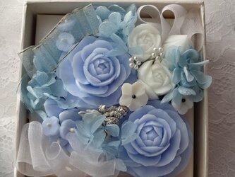 石鹸彫刻 香る花のボックスアレンジメントの画像