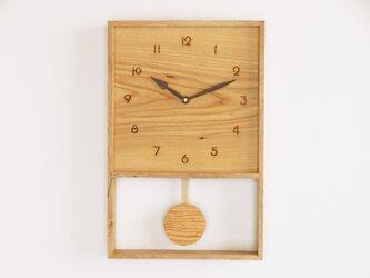 木製 箱型 振り子時計 樫材3の画像