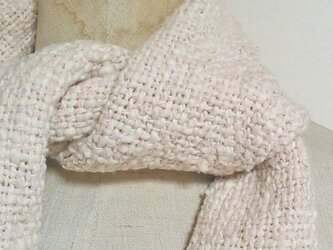 肌に気持ちいい♪手織りオーガニックコットンミニマフラー スオウ染めの画像
